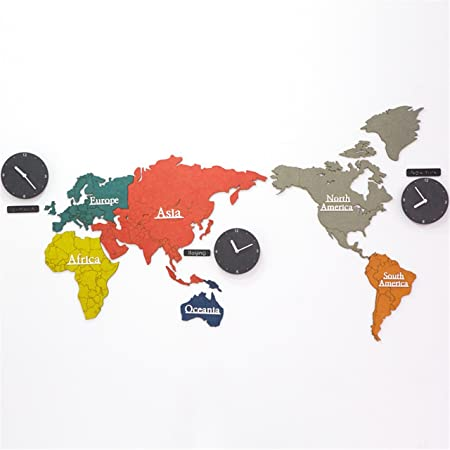 Wz wallclock diy 3d multicolor world map wood wall clock creative wz wallclock diy 3d multicolor world map wood wall clock creative quartz silent wall sticker decoration gumiabroncs Image collections