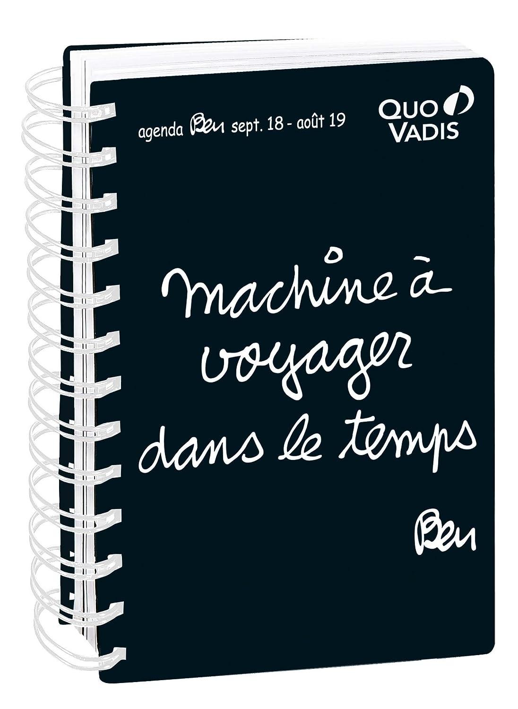 Quo Vadis Ben TEXTAGENDA 21 Spiralé Agenda scolaire Journalier 13x21cm Noir Année 2018-2019 642047Q