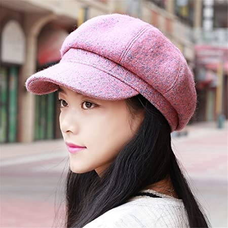 bf6609b5297 Girlfriend boyfriend Holiday gifts A woman s Hat Lady winter leisure all-match  Beret peaked cap