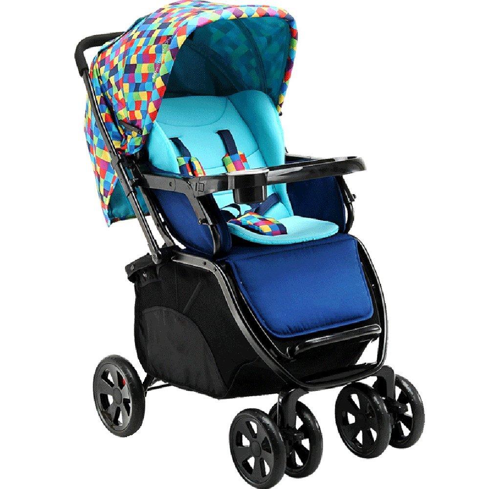 LVZAIXI 赤ちゃんのベビーカー、軽量折りたたみ四輪車、サスペンション、座ることができ、嘘つき、半ライクラコットンの日よけ ( 色 : A3 ) B07CG5KF9W A3 A3