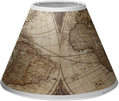 RNK Shops Vintage World Map Empire Lamp Shade