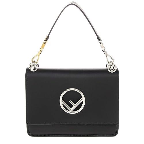 cbc185214b Fendi borsa donna a spalla shopping in pelle nuova kan i f nero: Amazon.it:  Scarpe e borse