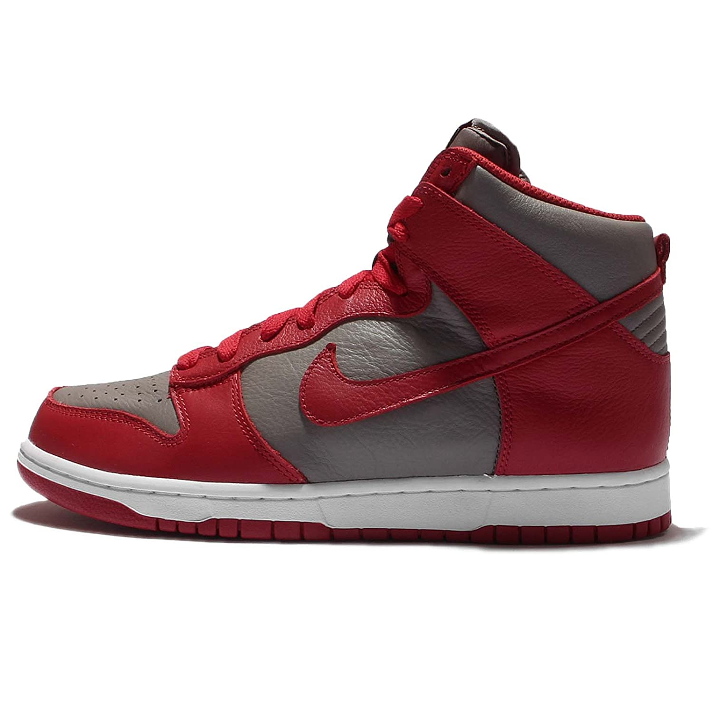 Nike Dunk Retro QS mens Hi Top Trainers 850477 Turnzapatos zapatos (8.5 D(M) US, Soft gris Univ rojo) -