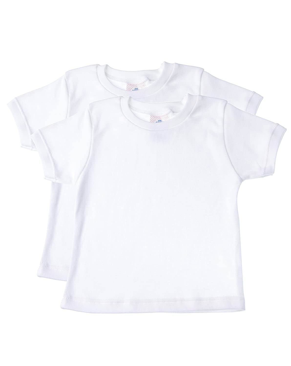 Baby Jay Short Sleeved Undershirt 2 Pack - White Unisex Baby and Toddler Soft Cotton Tee - Boys and Girls T Shirt WTSR 0-3 2-Pack WTSR-0-3-2PK