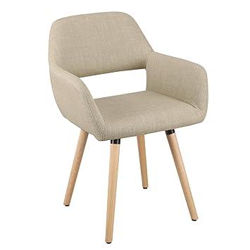 Exceptionnel Joveco Modern Velvet Armrest Open Back Dining Chair Beige