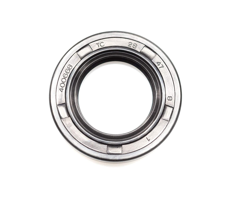 "EAI Double Lip w// Spring 1.102 /"" x 1.850 /"" x 0.315 /"" Oil Seal 28X47X8 TC"