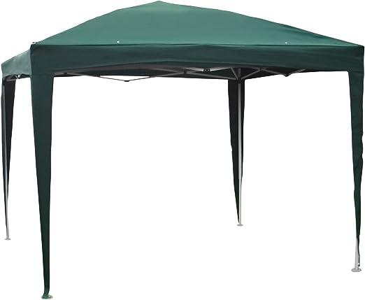 SORARA Carpa de Fiesta Pop UP Gazebo, Verde, 3 x 3 m, 16 kg ...