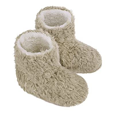 Ankle Booties for Women Lady Slipper Boots Slipper Bootie Winter Warm Plush Lining Indoor Slip-on House Pull on Shoes Bedroom Knit Snow Hiking Boots Slipper Socks Comfy Shoes Fluffy Boots Foot Warmer   Slippers