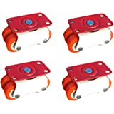 Impoda 4 x Moving Four Niylon Wheel Caster for Furniture Table Trolley / 300kg Load Capicity
