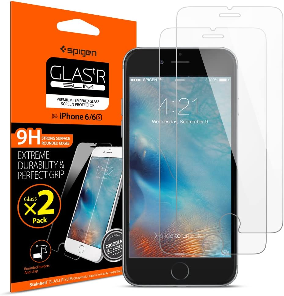 Confirm Key For Apple iPhone 6 6S /& iPhone 7 /& 4.7 GLASS-M iPhone 6 6S Smart Touch Button Tempered Glass Screen Protector W Smart Return Key