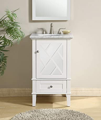Fantastic 21 In Single Bathroom Vanity Set In White Amazon Com Download Free Architecture Designs Intelgarnamadebymaigaardcom