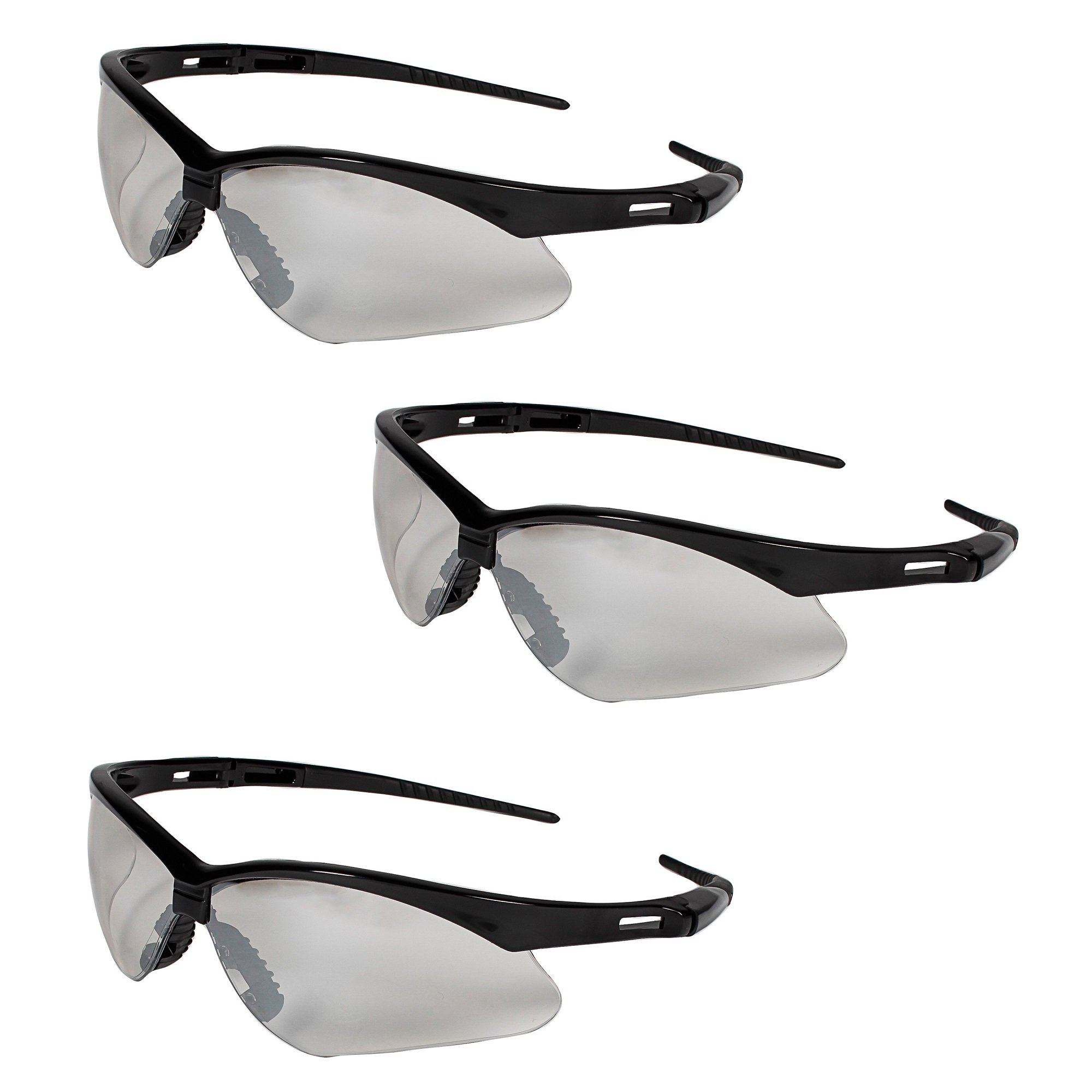 Jackson Safety V30 25685 Nemesis Safety Glasses 3000357 (3 Pair) (Black Frame with Indoor/Outdoor Lens)