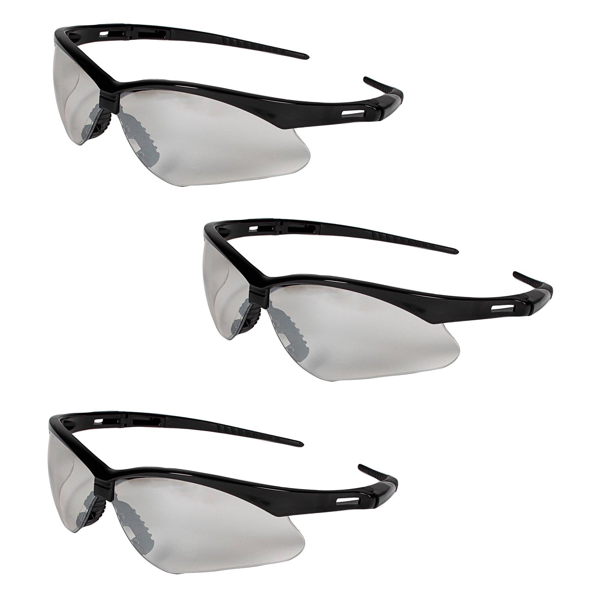 Jackson Safety V30 25685 Nemesis Safety Glasses 3000357 (3 Pair) (Black Frame with Indoor/Outdoor Lens)