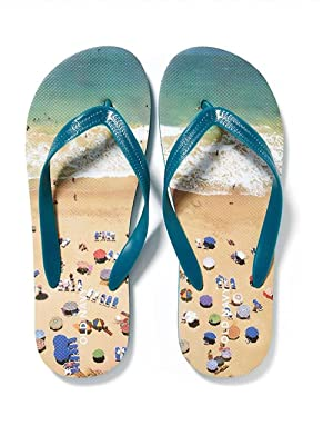 OLD NAVY Flip Flop Sandals, Great for Beach or Casual Wear (8-9, Sands)
