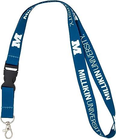 w//Pouch Millikin University NCAA Car Keys College ID Badge Holder Lanyard Keychain Detachable Breakaway Snap Buckle