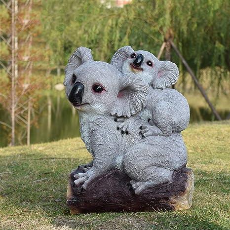 FF&XX Mini Koala Estatua,Lindo Jardín Esculturas,Resina ...
