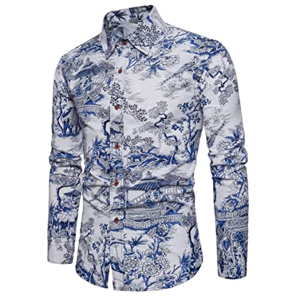 Men Basic Long Sleeve Dress Shirts Cotton Shirts Designed Breathable