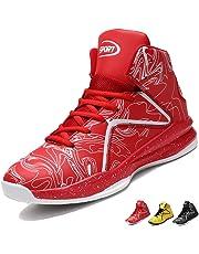 buy online fe992 572a1 LANSEYAOJI Homme Baskets de Basket-Ball Légères Antidérapantes Chaussures  de Course Mode Sneakers High-