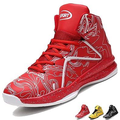 guarda bene le scarpe in vendita grande sconto cerca l'originale LANSEYAOJI Uomo Sportive Scarpe da Basket Hi-Top Scarpe da Ginnastica  Outdoor Antiscivolo Scarpe da Corsa Moda Scarpe da Sport Casual Alte  Sneakers ...