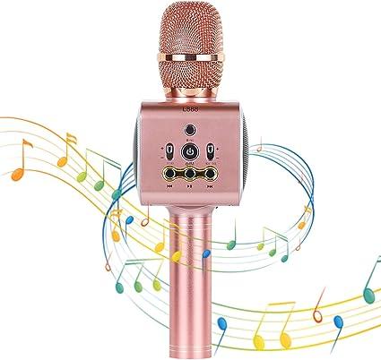 Xpassion Micrófono de Karaoke Inalámbrico Bluetooth, 4 en 1 Microfono Inalámbrico Altavoces, Portátil Karaoke para Niños Cantar, Función de Eco, Compatible con Android/iOS o Teléfono Inteligente: Amazon.es: Instrumentos musicales