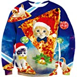 Uideazone Men Women Ugly Christmas Pullover Sweatshirts 3D Digital Printed Graphic Long Sleeve Shirts