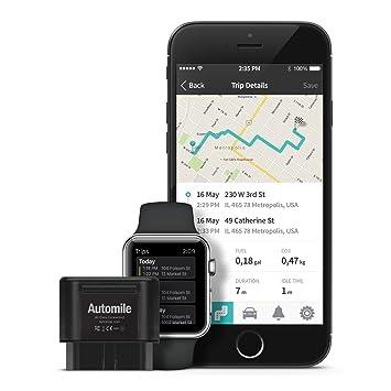 automile box wireless gps tracker mileage log and amazon co uk