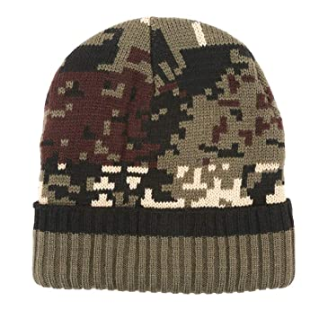 1ed8da6ad Yinew Camouflage Ski Cap Double Knit Hat Comfortable Warm Winter Hat ...