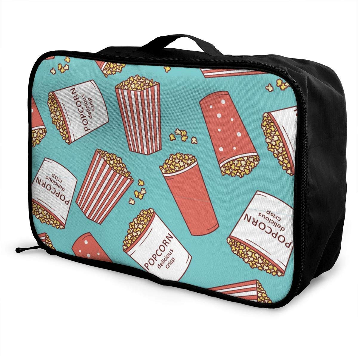 Popcorn Travel Lightweight Waterproof Foldable Storage Carry Luggage Duffle Tote Bag JTRVW Luggage Bags for Travel