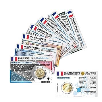 Set 8 Münzkarten Ohne Münze Für 2 Euro Gedenkmünzen Frankreich