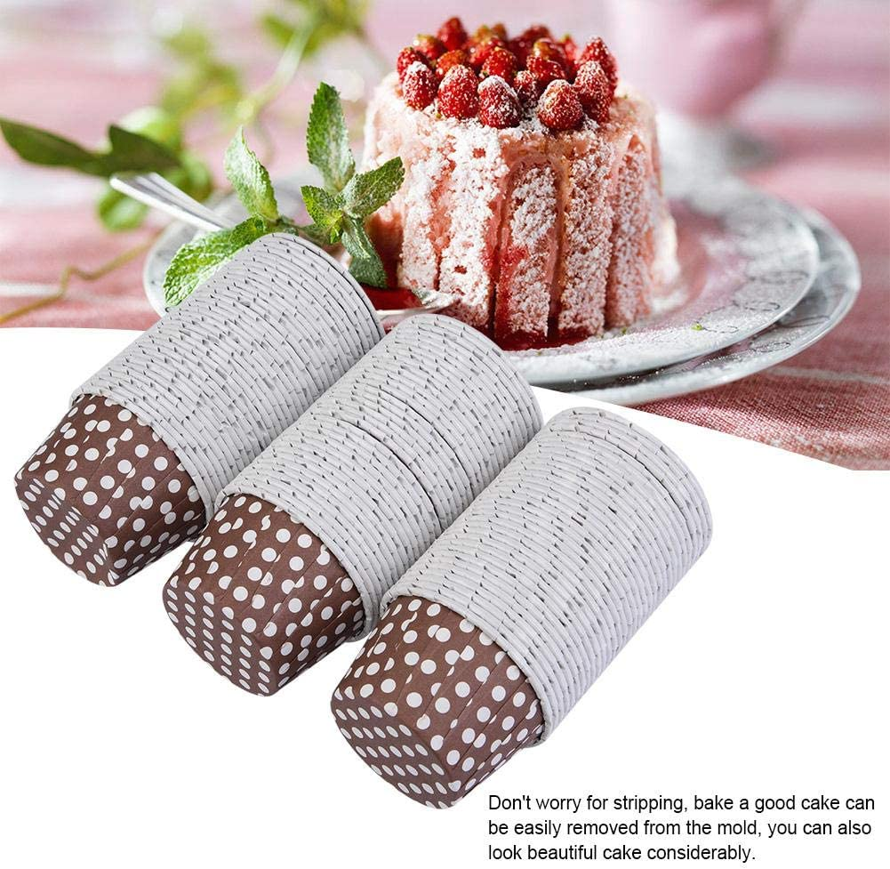 100PCS Paper Baking Cups Mini Cupcake Liners Paper Round Cake Baking Cups Muffin Cases Home Party Wedding Purple Dot