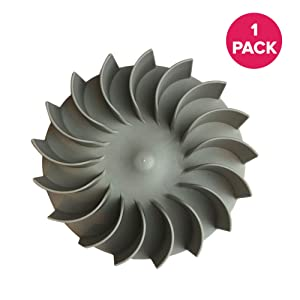 Think Crucial Replacement for Kitchenaid Dryer Blower Wheel Fits Amana, Kenmore, Magic Chef, Maytag, Roper, Whirlpool, Compatible with Part 279711, 279500, 299678, 338840, 343939, 343941 and 695499