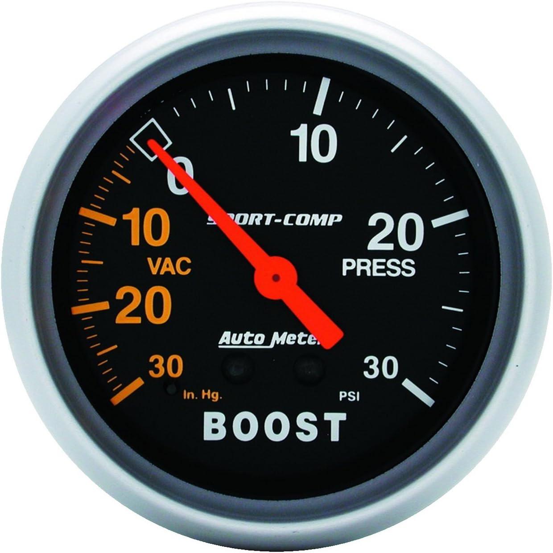 Autometer 3403 Sport-Comp Vac//Boost Mechanical Gauge 2-5//8 in.