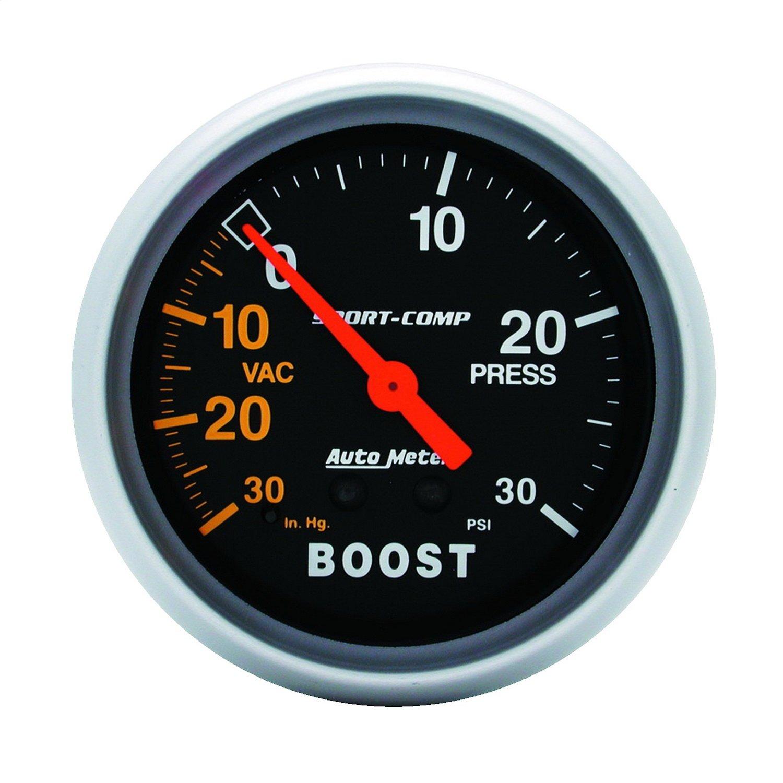 Auto Meter 3403 2-5/8' Mechanical Vacuum/Boost Gauge
