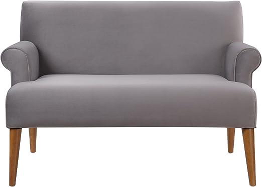 Amazon.com: Wilson Home de arena, sofá, Rolled Arm, patas de ...