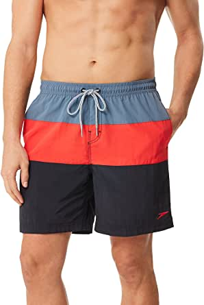 Speedo Men's Swim Trunk Mid Length Volley Colorblock