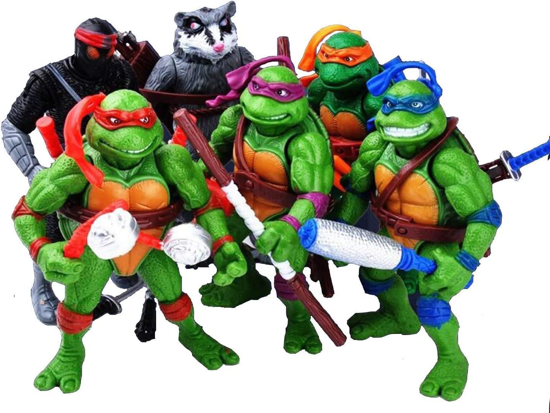 VITADAN New Ninja Turtles 6 PCS Set - Teenage Mutant Ninja Turtles Action Figure - TMNT Action Figures - Ninja Turtles Toy Set - Ninja Turtles Action Figures Mutant Teenage Set…