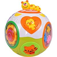 smartcraft Educational Toddlers Musical Ball Toy with Automatic Rotation, Lights, Music, Animals Sounds Toys