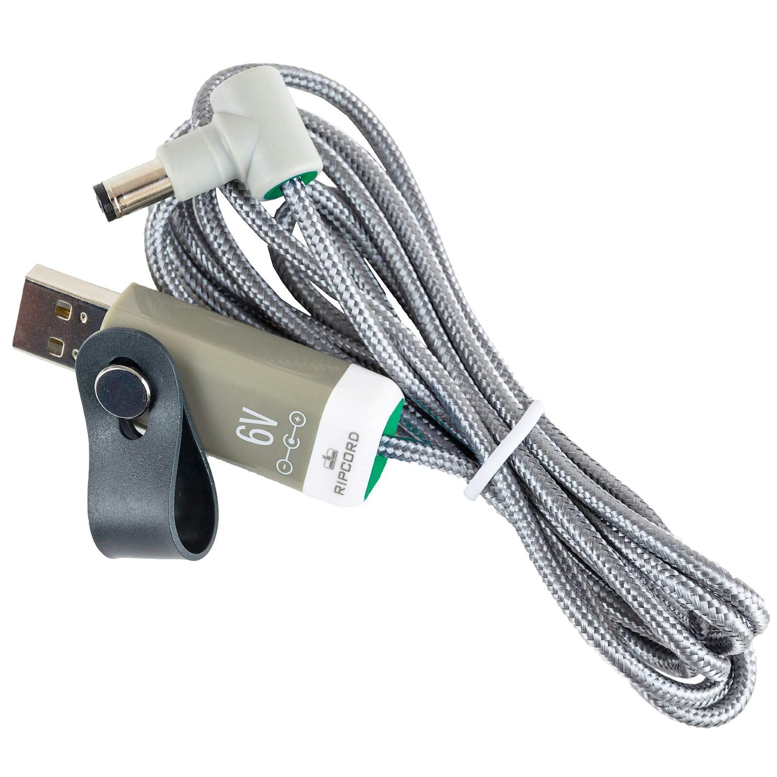 myVolts Ripcord - USB to 6V DC Power Cable Compatible with The Tommee Tippee Baby Monitor 1094S Parent Unit by MyVolts