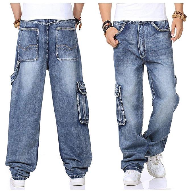 Pantalones Vaqueros para Hombre Pantalones Anchos de Pierna ...