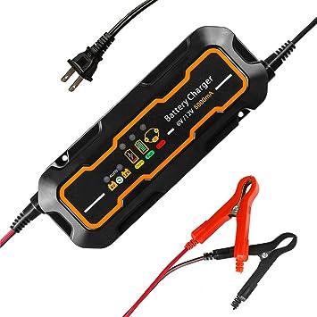 Amazon.com: 6 V/12 V Cargador de batería de coche automático ...