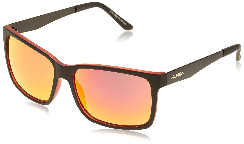Alpina Sonnenbrille Sport Style DON HUGO, black matt-red, A8522333
