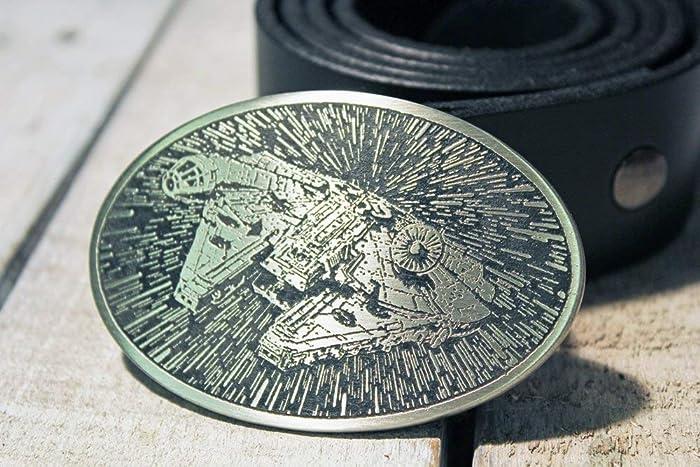 UNICORN Etched Metal Belt Buckle