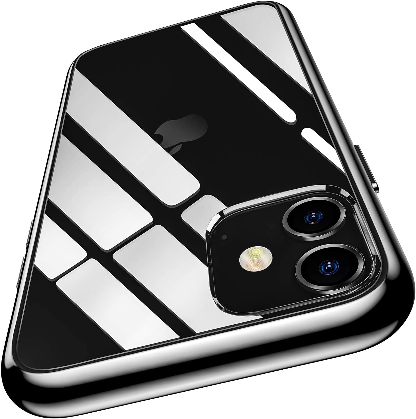 Meifigno Natural Series iPhone 11 Case [Anti-Yellow], Clear Hard PC with Black Soft Edges, Protective Clear Case Compatible with iPhone 11 6.1 inch (2019), Black