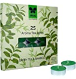 Iris Green Tea Fragrant Aroma Wax Tealights (19 cm x 1.7 cm x 19 cm, Green, Set of 25)