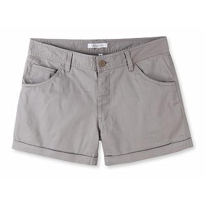 Vetemin Women's Juniors Comfy Fitted 5-Pocket Cuffed Casual Walking Chino Shorts | .com