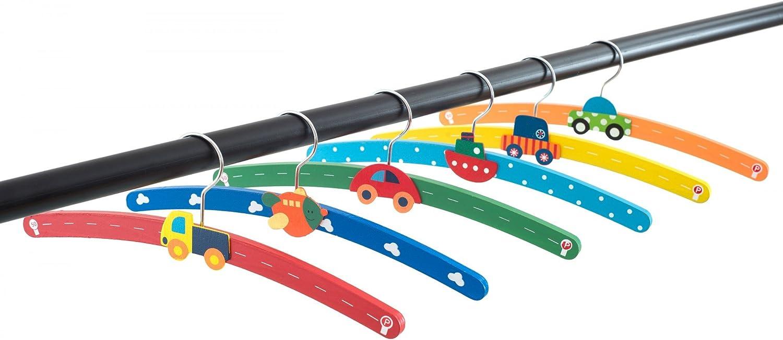 bateau et avion motif voiture Lot de 6/cintres en bois pour enfant