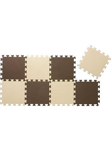 ジョイントマットシリーズ カラーマット 8枚組 チョコレート