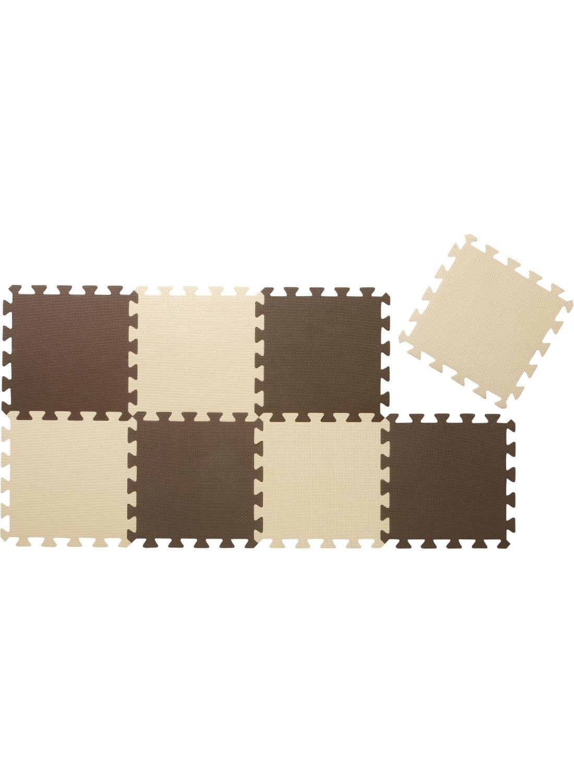 CBジャパン ジョイントマット 厚め 12mm 8枚組 カラーマット チョコレート