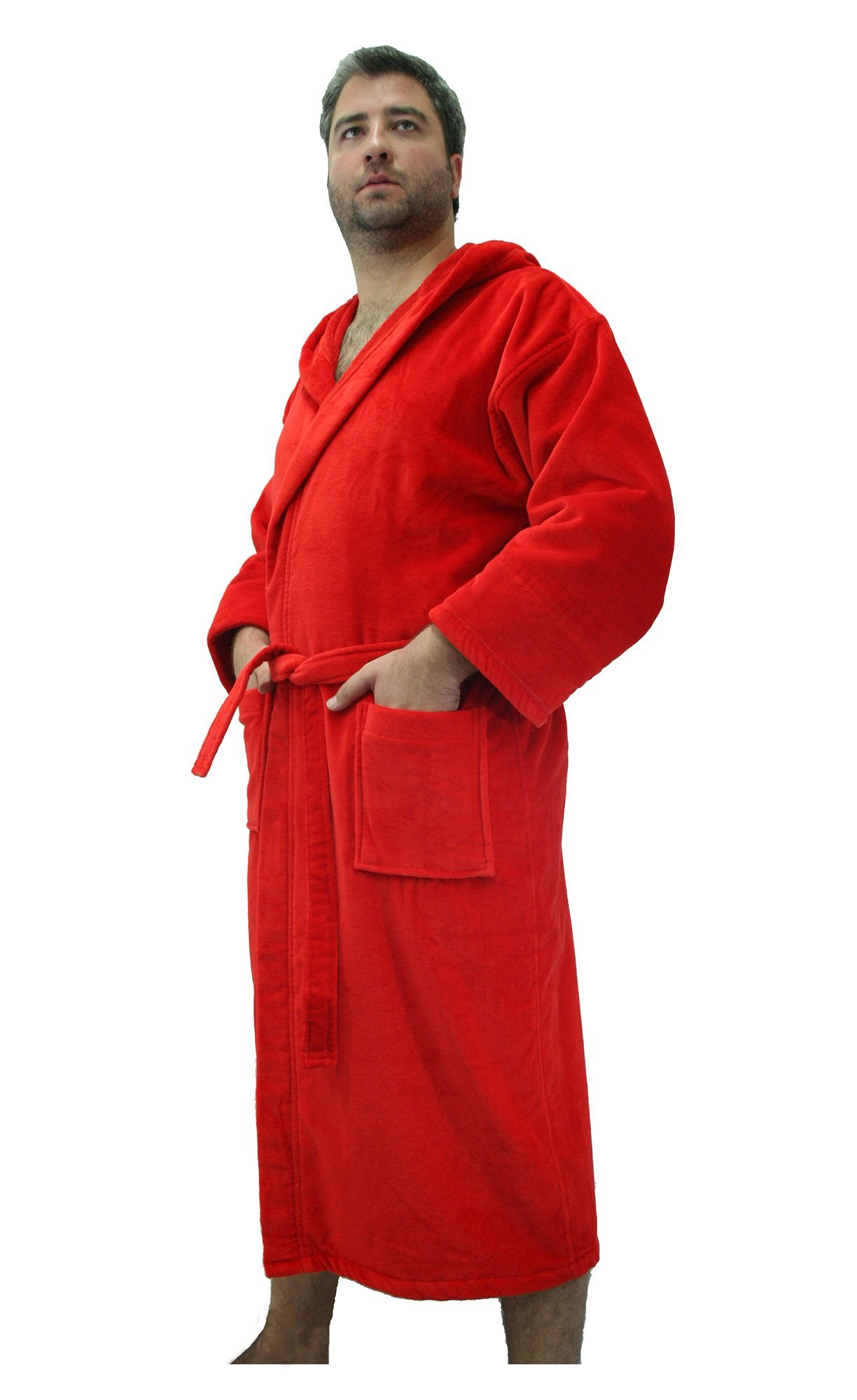 Custom Embroidered Robe for Adult,Cover Up, XXL Size, RED Color