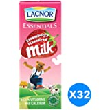 Lacnor Strawberry Milk - Pack of 32 Pieces (32 x 180 ml)